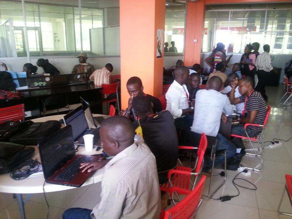 Participants at the Hackathon
