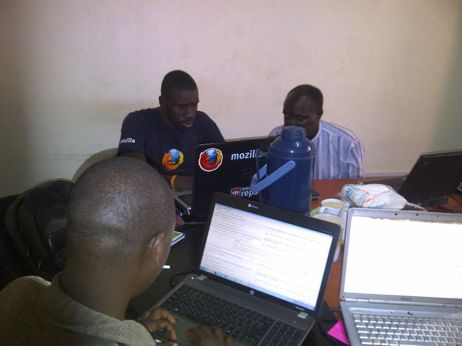 Mozilla Uganda team hard at work