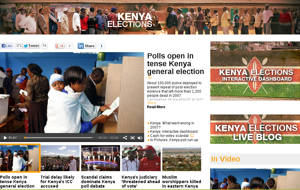 Al Jezeera Kenya election 2013 Spotlight page