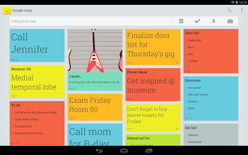Google Keep, Google's note taking App