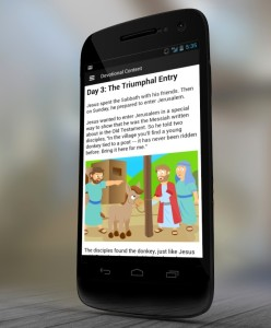 Easter kids devotional on the Bible App. Image courtesy of Youversion