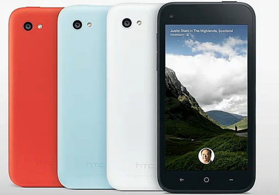HTC First will come in four colors on AT&T. Image courtesy of Marketwatch.com
