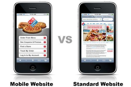 Mobile and Standard Websites