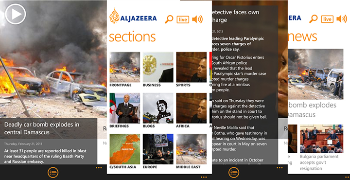 Al Jazeera Windows 8 App