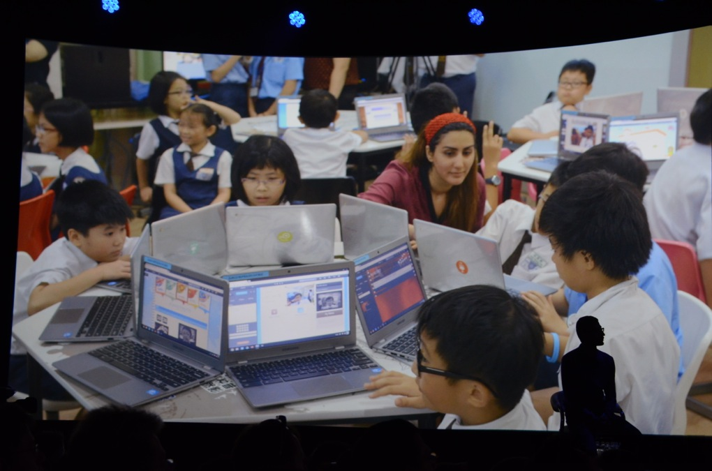 Malaysian children use Chromebooks. Image courtesy of theverge