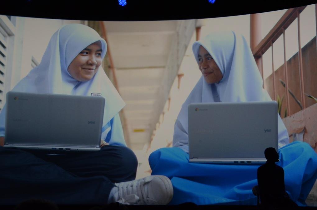 Malaysian Kids using Chromebooks. Image courtesy of TheVerge