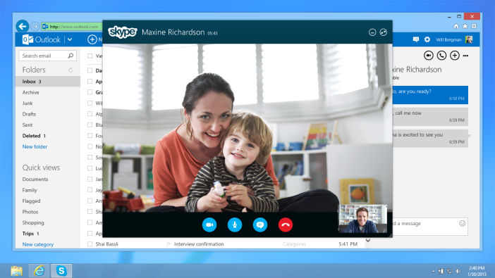 Skype on Outlook.com