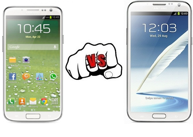 Samsung Galaxy S4 vs Samsung Galaxy Note II