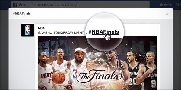 Facebook clickable hashtags