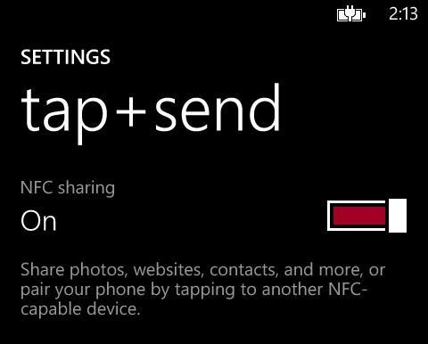 NFC sharing