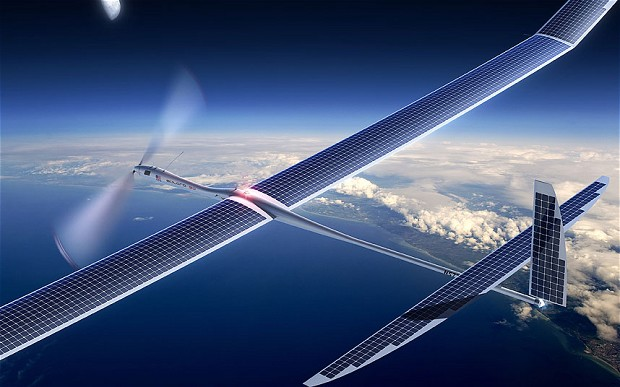 Titan Aerospace's solar-powered drones. Source: Telegraph