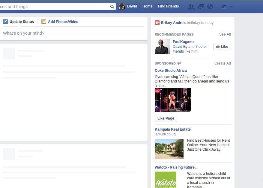 Facebook Newsfeed down