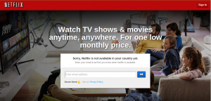 Netflix restricted to certain geographies