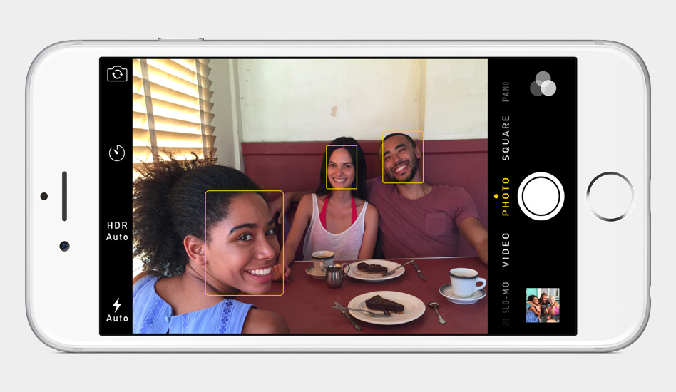 iPhone 6 Camera Face recognition