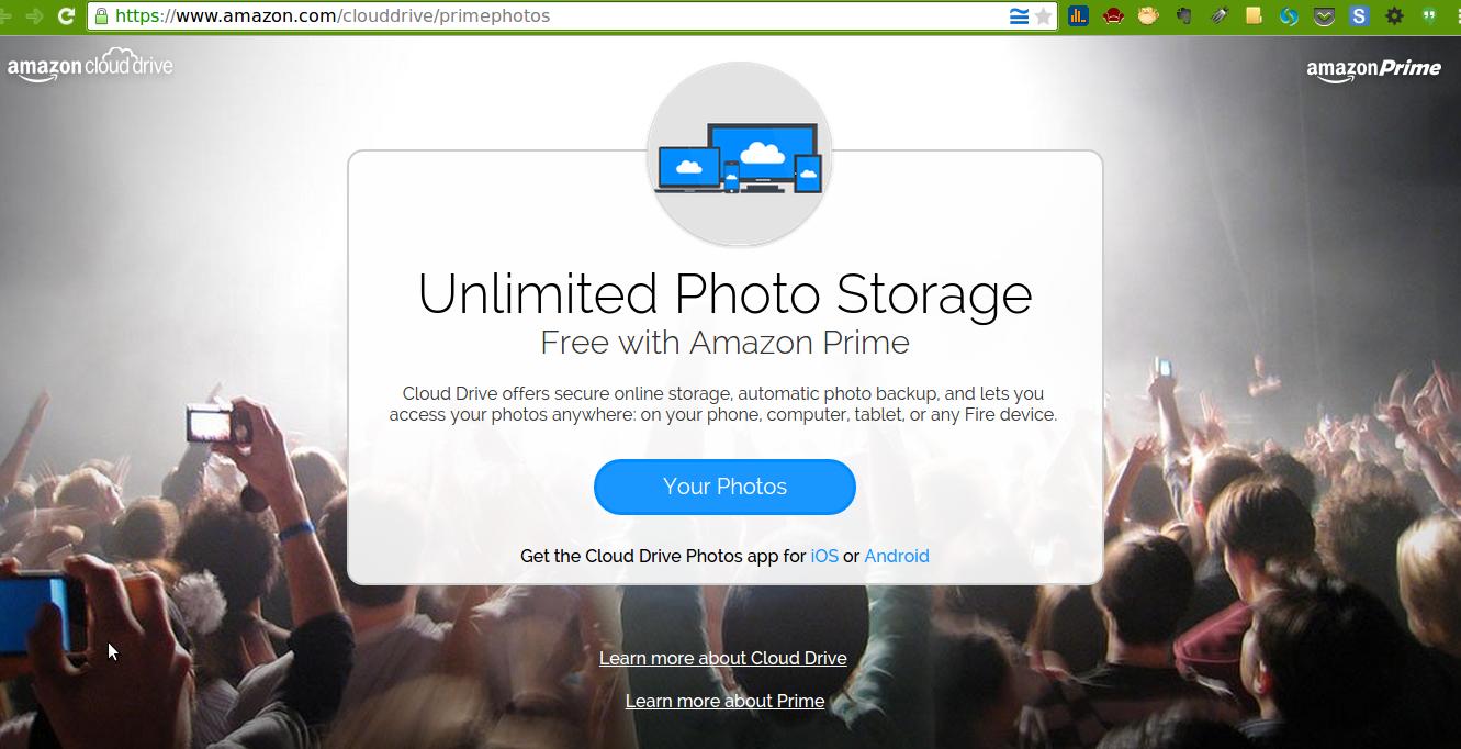 Amazon Prime Storage