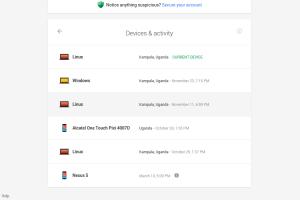 google device security dashboard