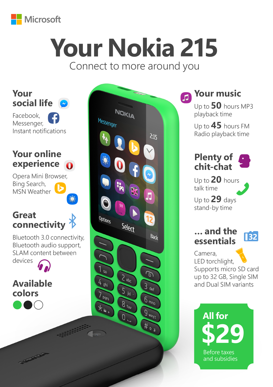 ... with one month battery, FB Messenger instead of Whatsapp - Dignited