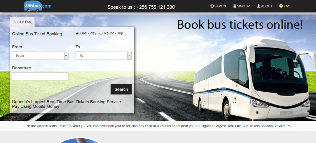 256bus bus online booking in Uganda