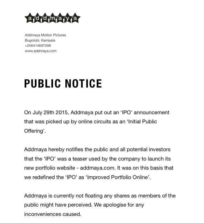 Addmaya IPO