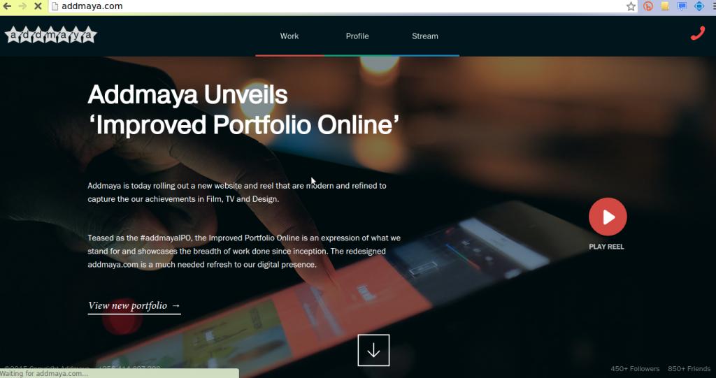 addmaya new website