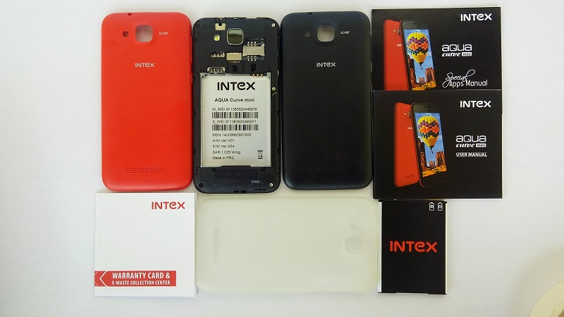 Intex Aqua Curve Mini covers