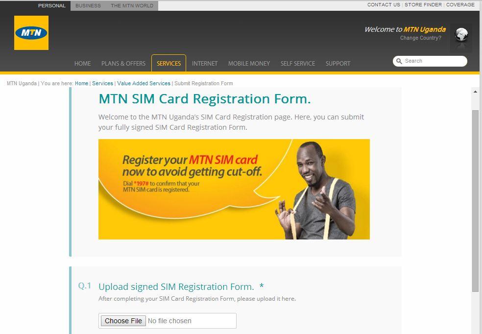 MTN Uganda SIM Card Reg