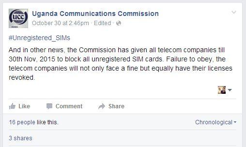 UCC Facebook Status