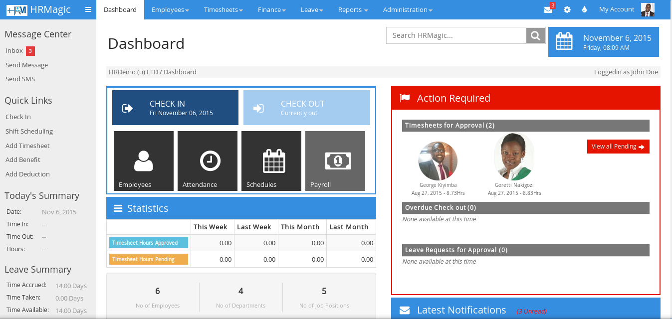 hrmagic interface