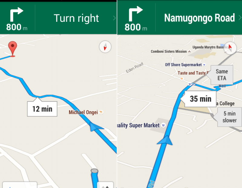 google maps navigation gallery