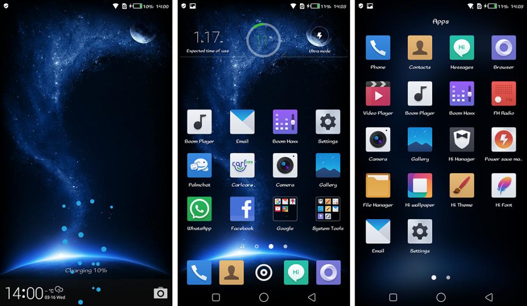 HiOS Lockscreen Homescreen App Drawer