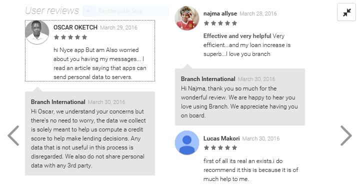 Branch reviews