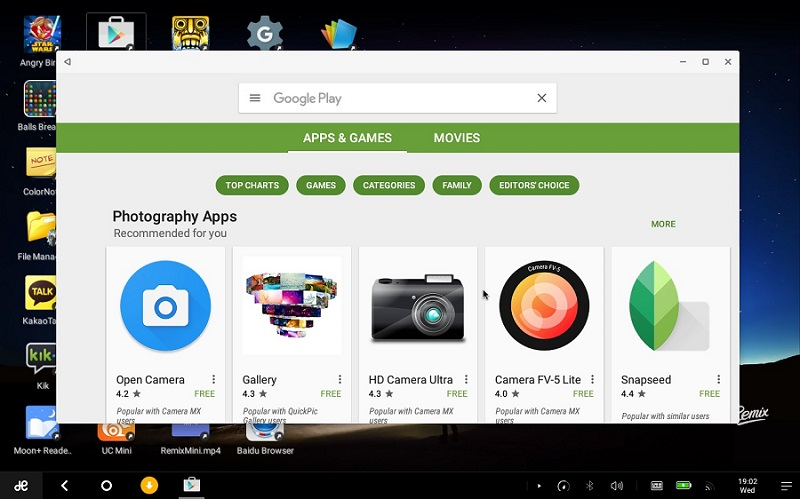 Google Play Store on Remix