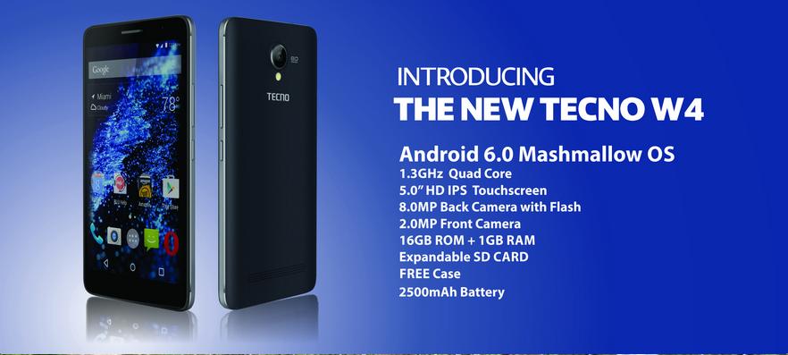 Meet The Tecno W4 Tecno S First Smartphone Running