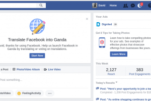 Facebook wants you to translate Fesibuku to Luganda