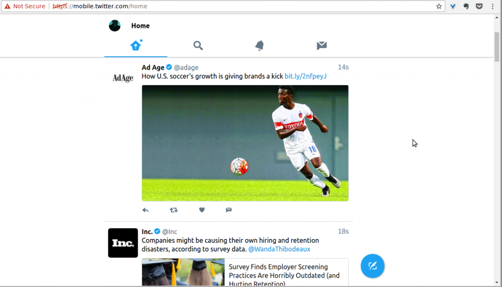 Twitter lite web