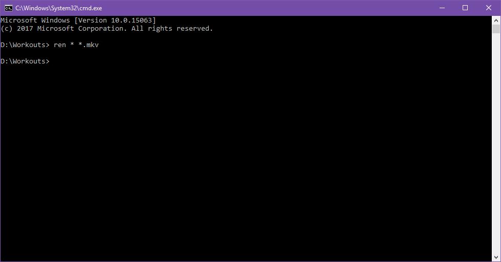 Renaming multiple files step 4