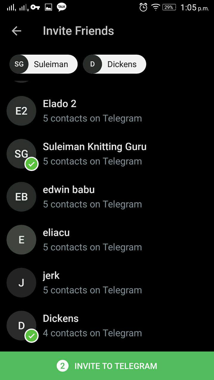 Telegram Invite Friends