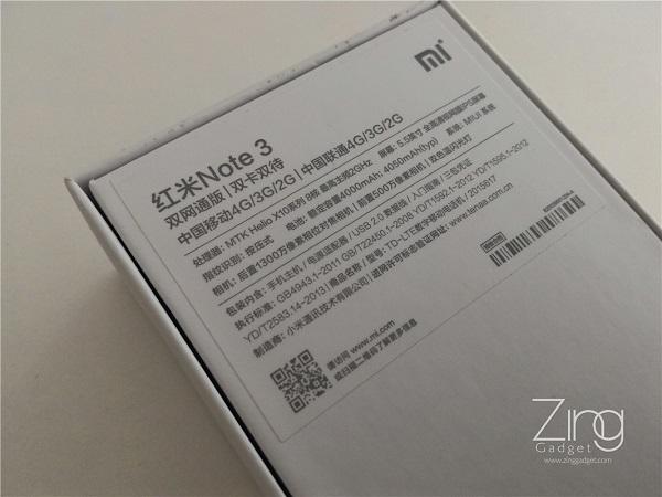 Xiaomi Note 3 specs