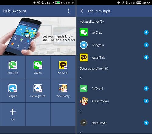 Multi Account Infinix S2 Pro
