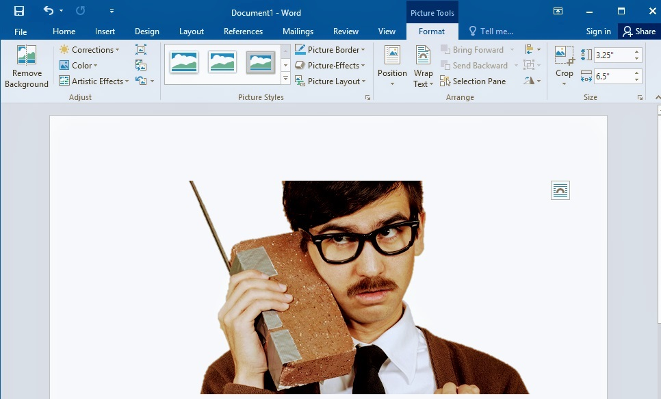 Remove Image Background in MS Word