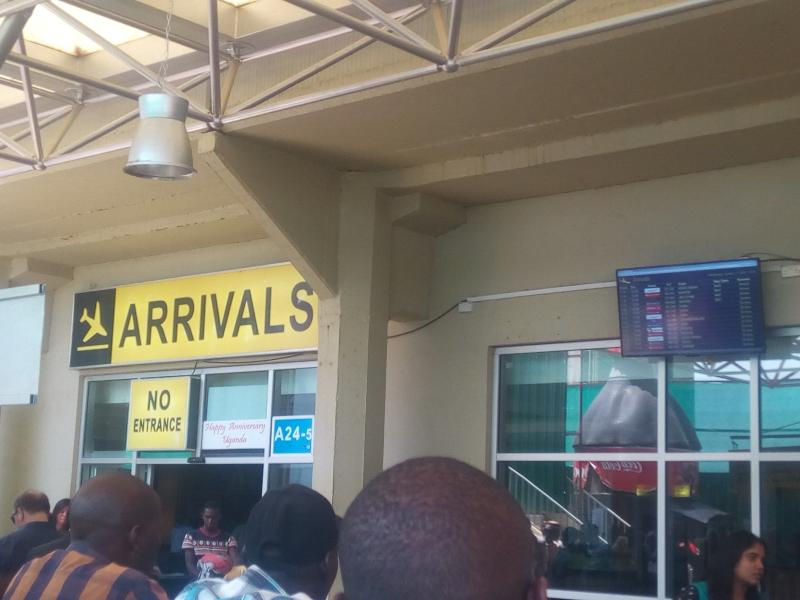 Entebbe arrivals