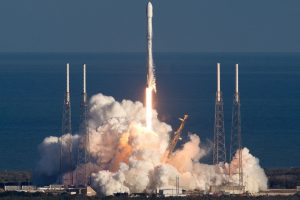 SpaceX has launched the first test internet satellite after blowing up Facebook's