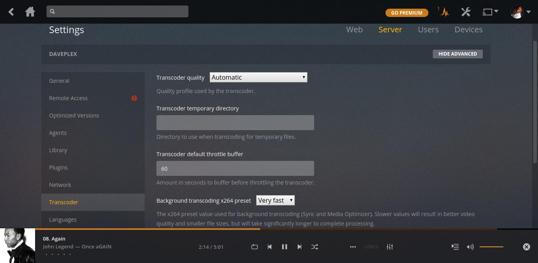 plex transcoding
