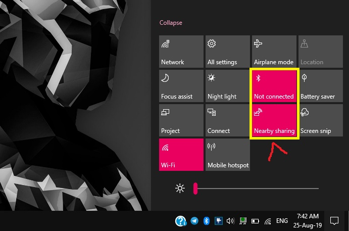 Nearby Share Windows 10