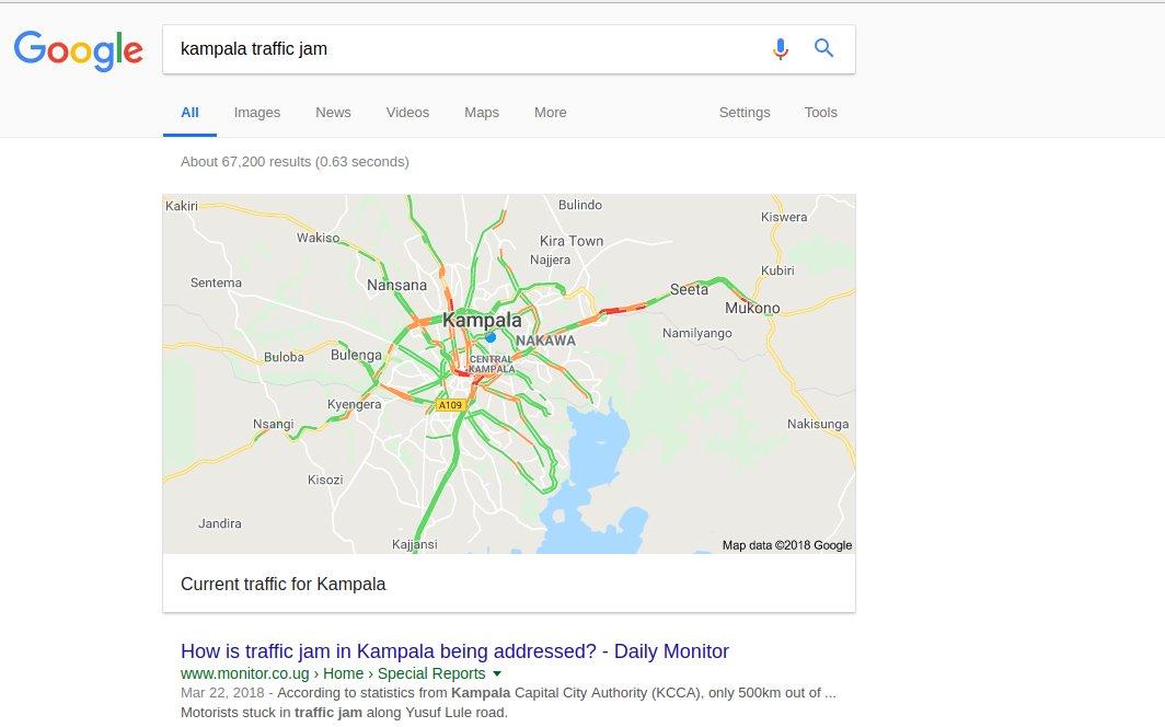 Google Maps Navigation Now Shows Live Traffic Updates For Kampala