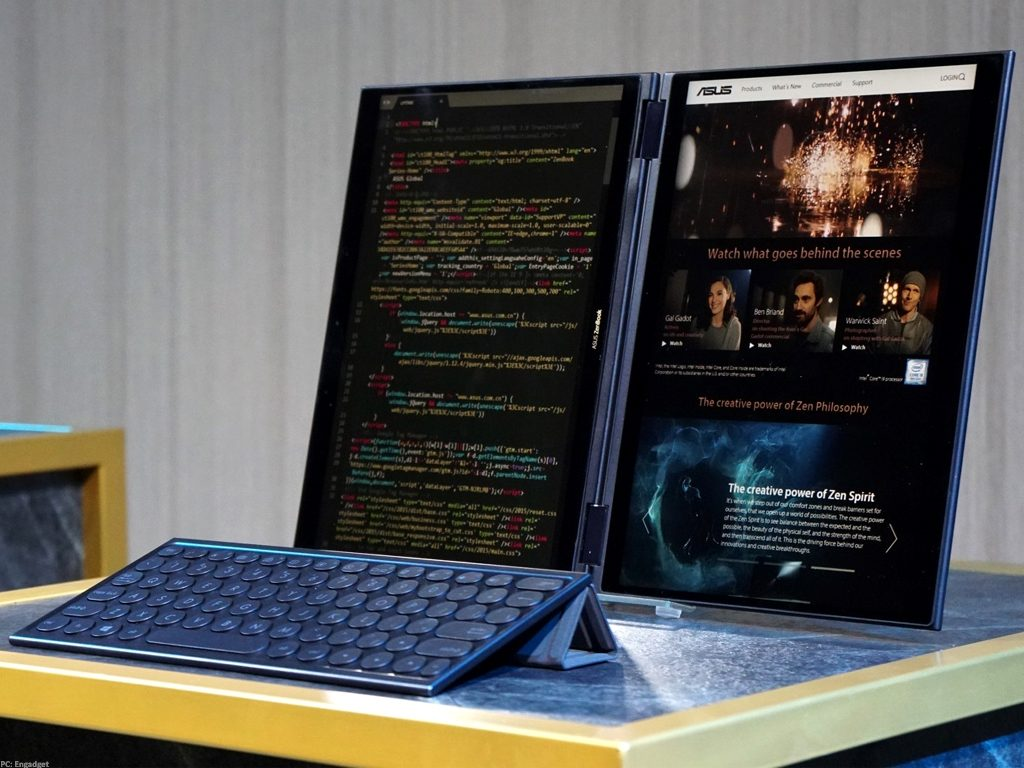 dual-screen laptop