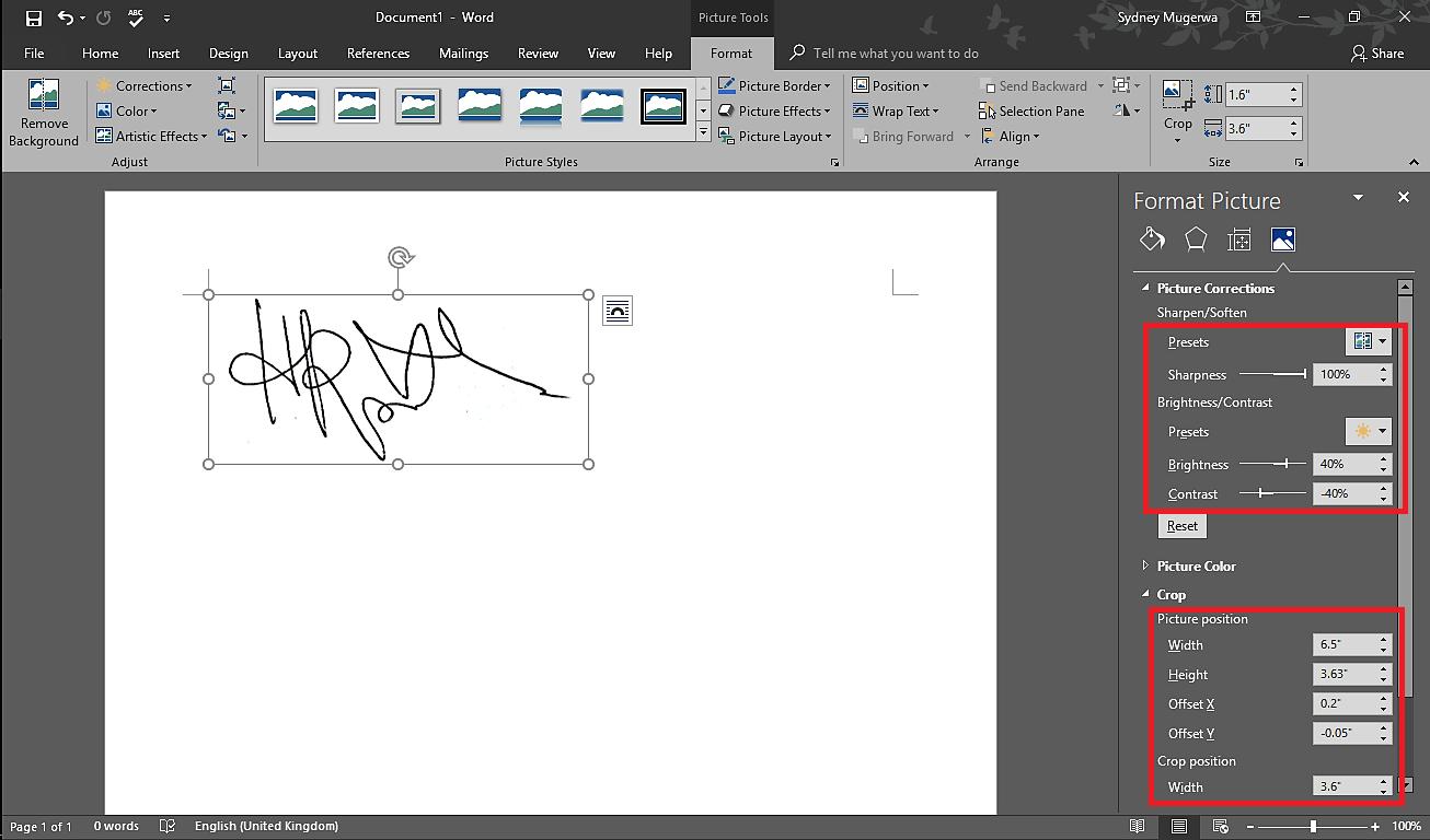 Remove Signature Background