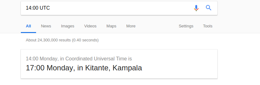 time zone converter Google search