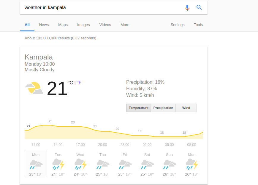 weather update google search