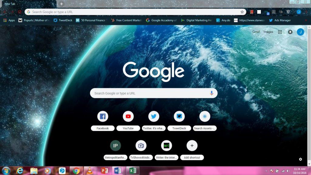 Space Google Chrome themes